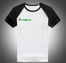 Polyester cotton T shirt , blank sublimation t shirt wholesale- Black