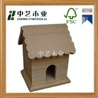Trade assurance garden hanging decoration wooden bird house nest wholesale