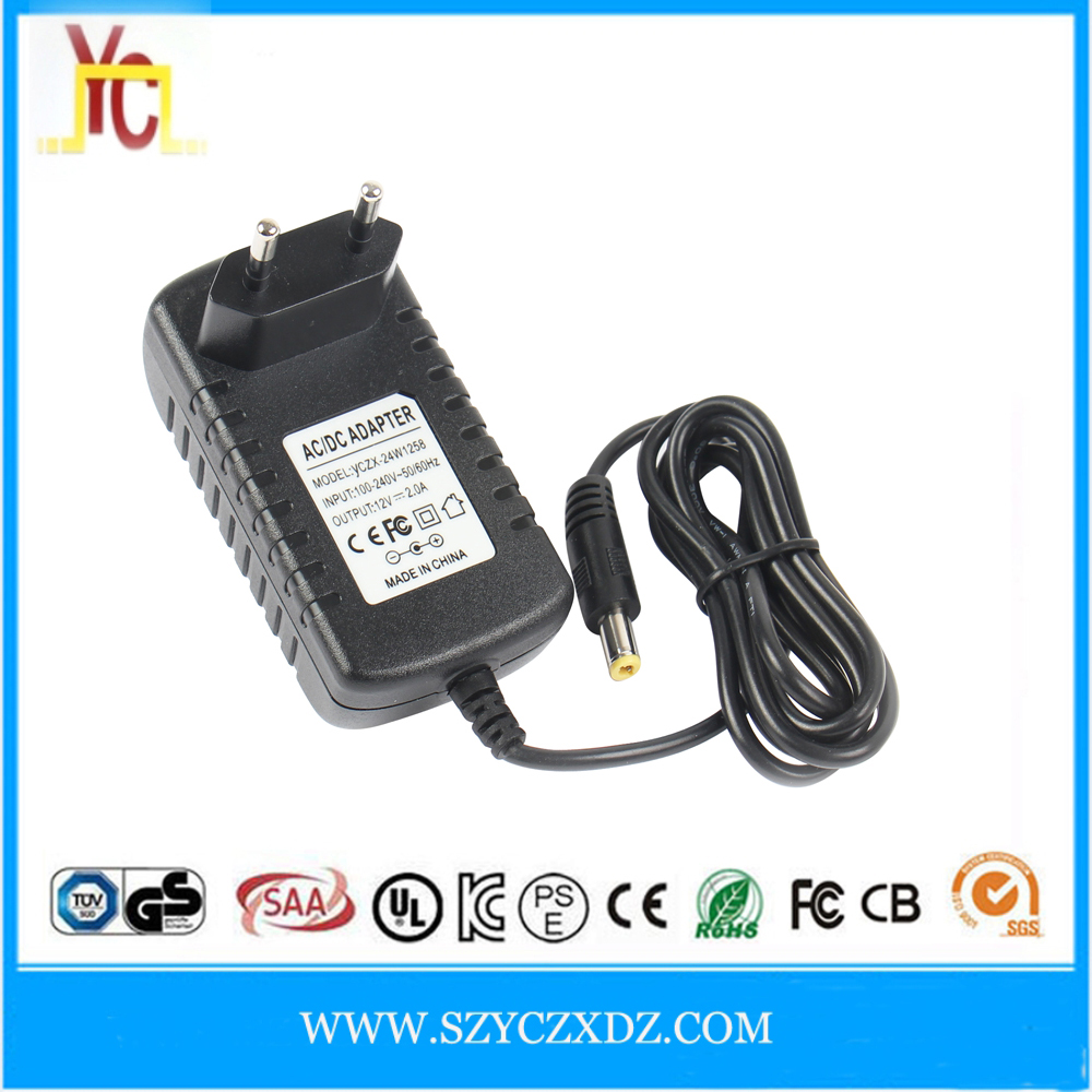 AC/DC 100-240V 50-60HZ EU AU UK US rule 12V 1A power supply China manufacturer