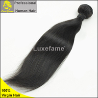 High Quality Luxefame hair Grade 7A 100% raw natural brazilian hair,hair straightener,hair straightening