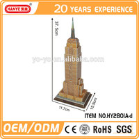HY2801A-d Empire State Building 3d paper model puzzle