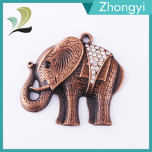 2016 new fashion pretty animal elephant alloy metal pendant for necklace bracelet