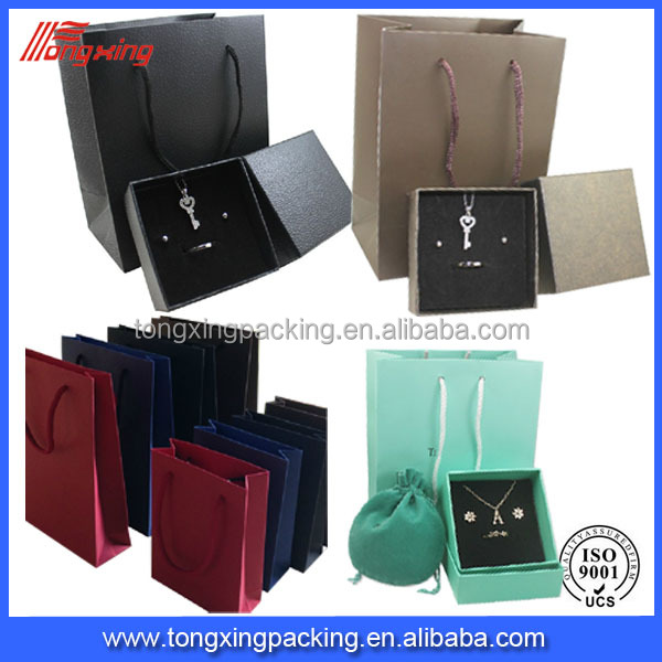 2014 good quality paper hand bags high end jewelry bags