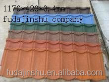 Floating sand colourful metal roof tile