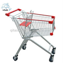 Eu 60 liter shopping trolley with 4 inch PU Wheel zinc + powder coated finished