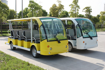 environmental Cheap electric 14 seater golf cart sightseeing bus