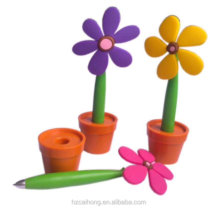 Unique flower shaped plastic ballpoint pen& advertising pen for promotion CH-6110A