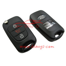 High quality uncut smart key blade 3 button remote control blank car key shell case fit for K-IA K5