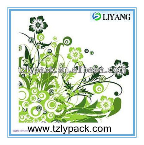cubic printing flower adhesive image transfer on plastic