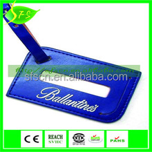 SFS personalized airplane PU leather travel luggage tag