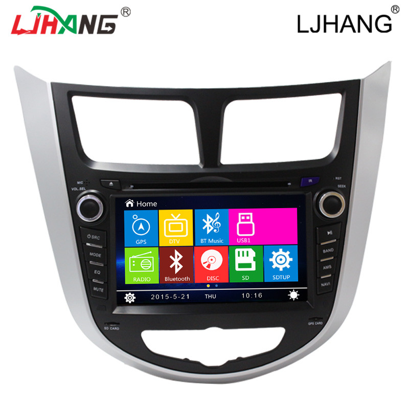 gps navigation video player car stereo touch screen bluetooth for hyundai 2012 verna with reversing camera