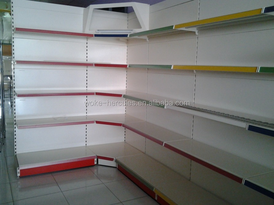 Supermarket shelves/Grocery Shelf /Green Vegetable Shelving He bei work metal