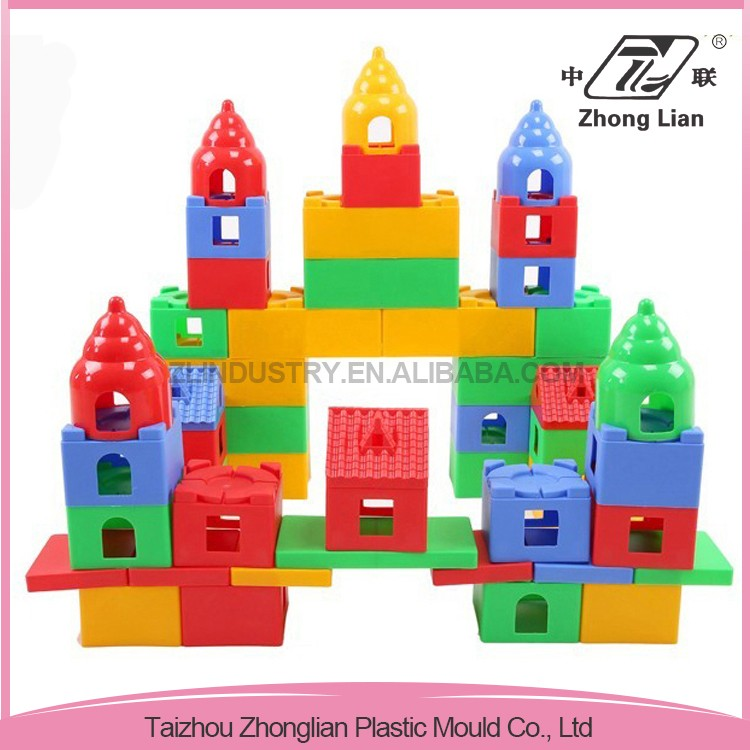 Plastic building cheap colorful big blocks kids educational toy