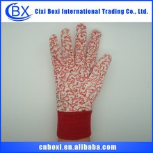 Comfortable cotton red customized China wholesale safety working gloves