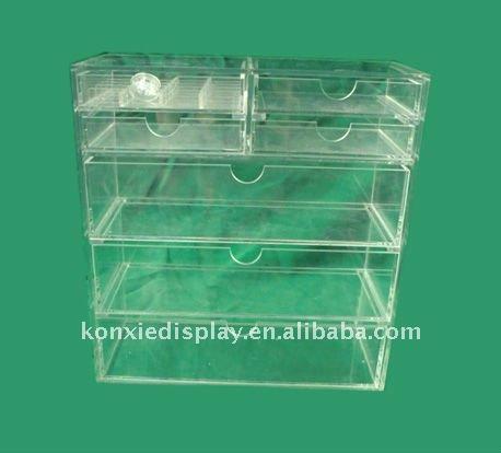 Clair acrylique maquillage bo tes de rangement caisses d - Boite maquillage acrylique ...