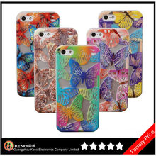 Beautiful Hollow Out Soft for iPhone5 Butterfly Case,Soft TPU Butterfly Case for iPhone5S