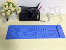 89/109 keys silent ergonomic silicone keyboard