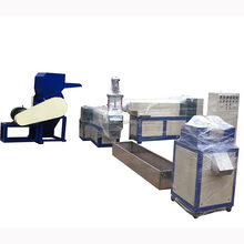 KEDA brand Plastic recycling granulating line/PE PP pellet making machine/waste film bag recycling pelletizer machine