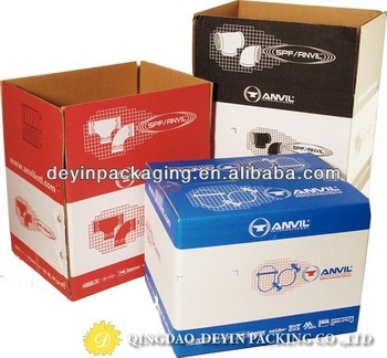brown corrugate carton box with handle specification