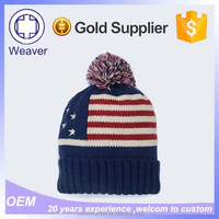 World Best Selling Products Knitted Long Slouch Winter Beanie Hat / Cheap Wholesale Beanie Hats with Top Ball