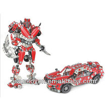 Assembly metal transforming robot dinosaur toys
