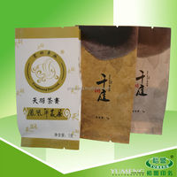 BPA Free Gravure Printing Company Paper Bag for Tea Packaging