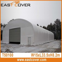 T50100 15x30x8m best low cost storage plan dome truss fabric building for outdoor storage