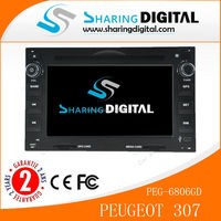 Sharingdigital PEG-6806GD support MP5 MP3 MP4 CD player Wince system Car dvd for Peugeot 307