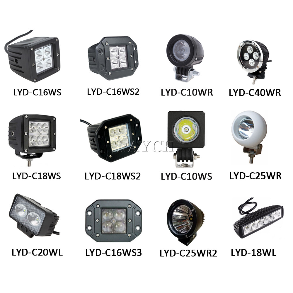 New arrival dual color flash 6.3 inch 60W LED Work Light Bar Flood Spot Beam led head lamp 12V 24V Truck 4WD led work lamp