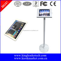 "Lower cost 9.7"" android tablet exhibition display super slim freestanding kiosk stand"