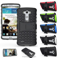 Hybrid TPU+Silicone Dirtproof Shockproof Stander Cellphone case for LG G3 / G4