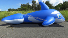 blue giant inflatable whale