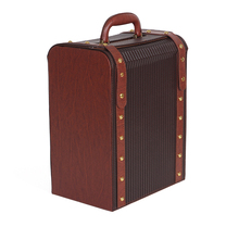 Hot selling High Quality faux leather Wine Box,Leather Wine Carrier