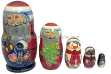 handicraft making nesting doll