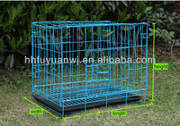 foldable metal pet cage with bottom tray