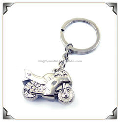 Emulational silver 3D metal motorcycle innovative key chain/keyring