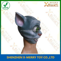 X-MERRY Cat Woman Mask Adult Latex Masquerade Fancy Party Fetish Eye Mask Pussy Ears