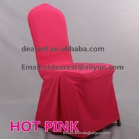 hot pink pleat spandex chair cover for hotel