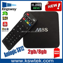 2015 hot selling m8s andriod tv box Amlogic S812 Ram 2GB Rom 8GB Dual channel WIFI 2.4GHz/5.0GHz AP6330 samart tv box