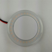 Round LED Surface mounting Car Van Bus Interior Ceiling Dome Roof Light 12V/3W for Marine/ Boat/ RV / Trailer