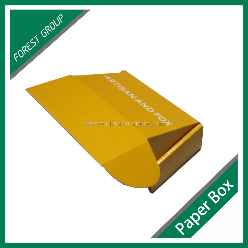 WHOLESALE PRICE CORRUGATED TYPE YELLOW SMALL PAPER BOX