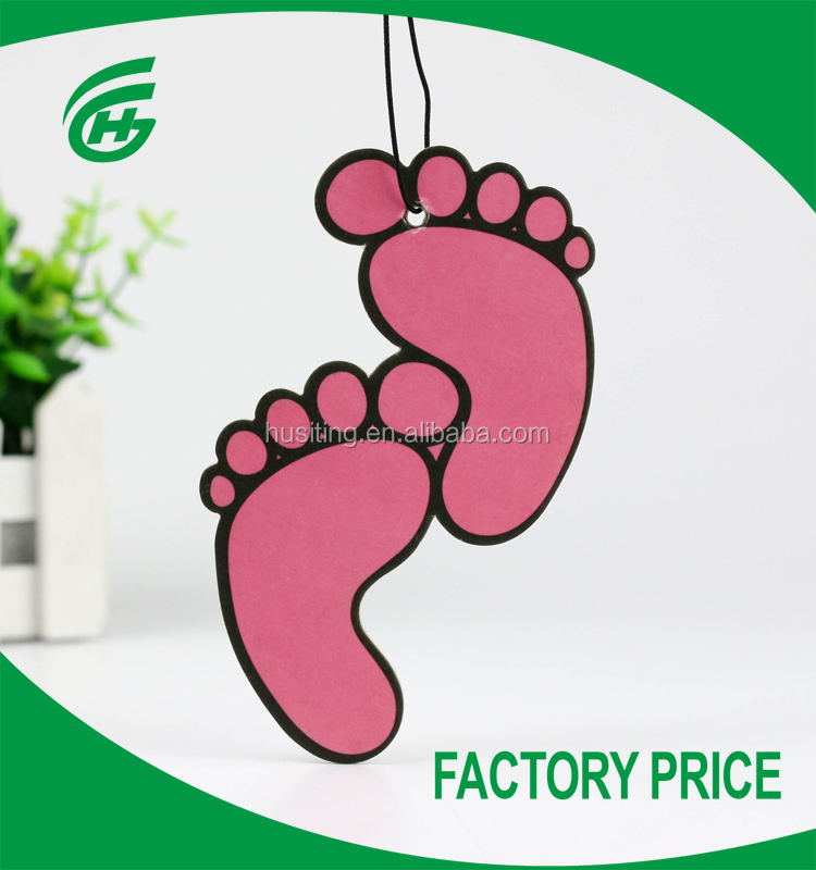 Foot Shape Double Printing Car Paper Air Freshener For Car