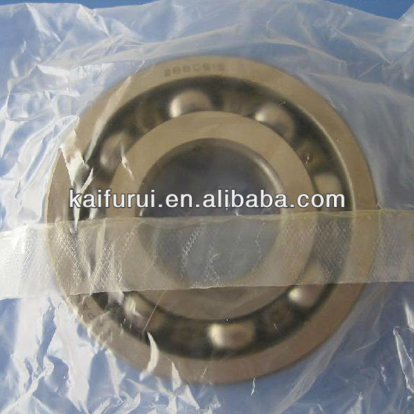 Electric motor bearing with ball bearing and roller bearing