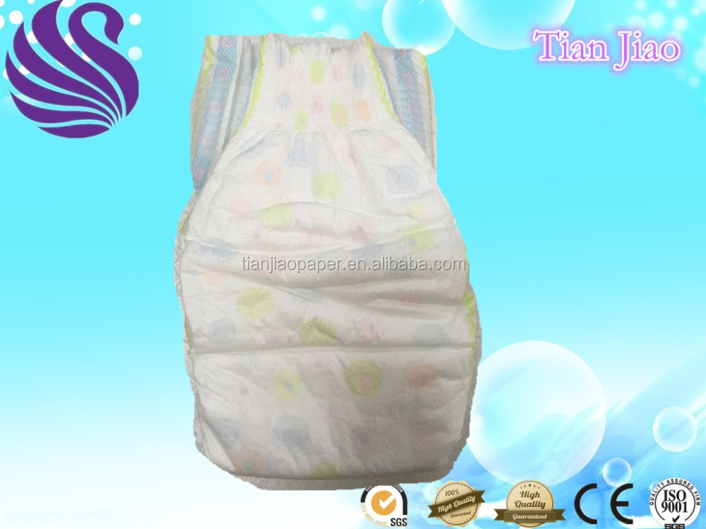 Europe Market super soft ES hot air nonwoven topsheet full elastic waist band baby diaper