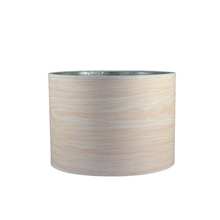 Round wood rings rice paper lampshade