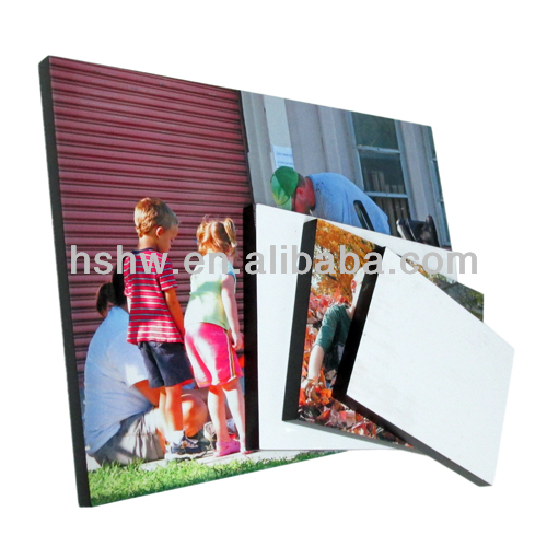 sublimation MDF photo frames, dye sublimation coasters