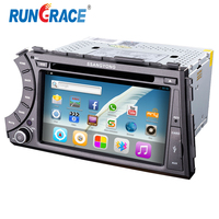 Double din Rungrace factory supply Android 4.4 Ssangyong actyon/ kyron car dvd player