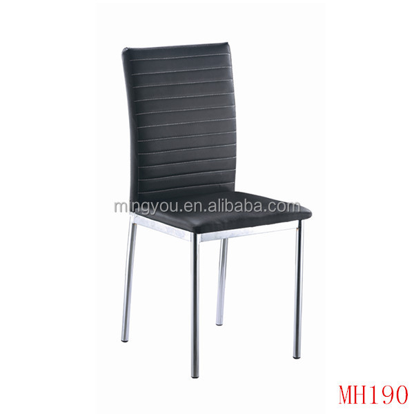Modern PU leather chromed carbon french bistro chairs in home