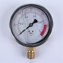 Skillful Manufacture Easy To Read Clear Personalized Design Reliable Performance Ss Pressure Gauge Manometer Oil Filled Meter