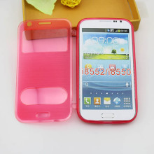 Brushed TPU flip back cover case for samsung galaxy win i8552